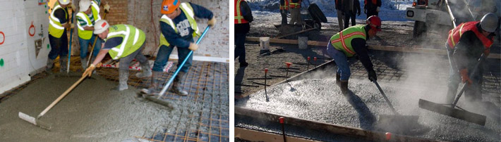 Заливка бетонных конструкций