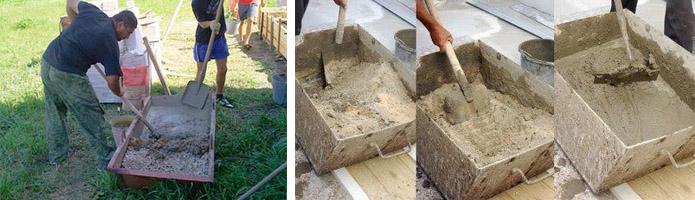 Замес бетона своими руками
