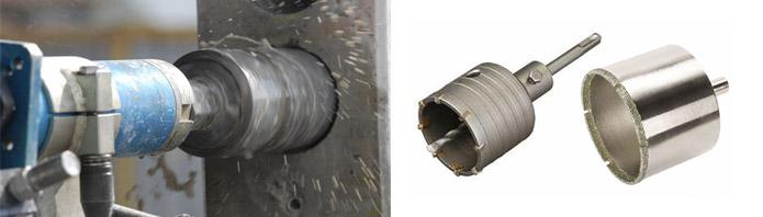 Зубчатые коронки для бетонных поверхностей