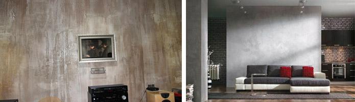 Имитация бетонных стен