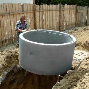 Инструкция по самостоятельной установке септика из бетонных колец