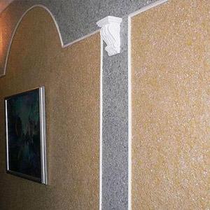 Как шелковая декоративная штукатурка смотрится в интерьере - фото