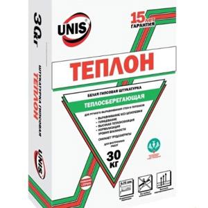 Особенности штукатурных смесей марки UNIS Теплон