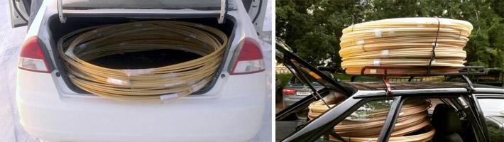 Перевозка армирующих прутьев