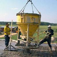 Подача раствора через колокол