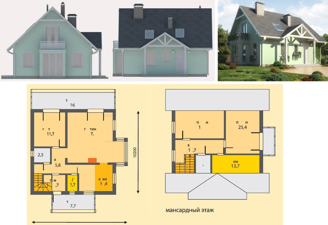 Проекты домов из шлакоблоков чертежи и