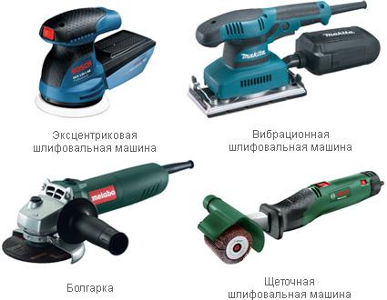 Разновидности шлифовальных инструментов