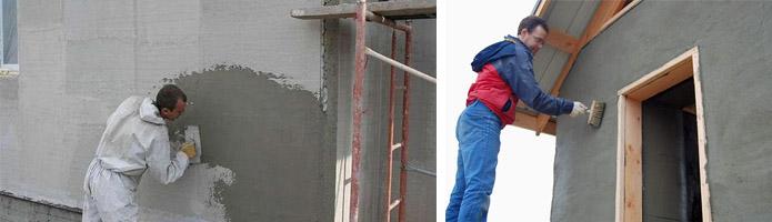 Самостоятельное оштукатуривание фасада