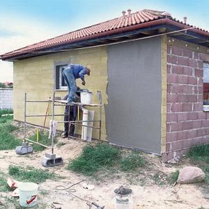 Теплоизоляционная штукатурка для работ снаружи и внутри дома