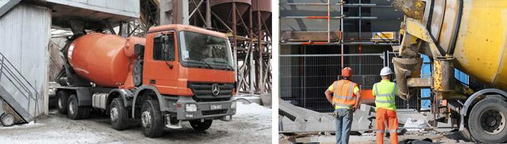 Транспортировка бетонных растворов