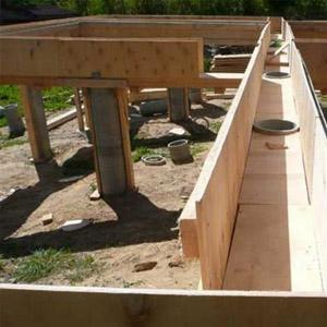 Устройство фундамента на бетонных сваях