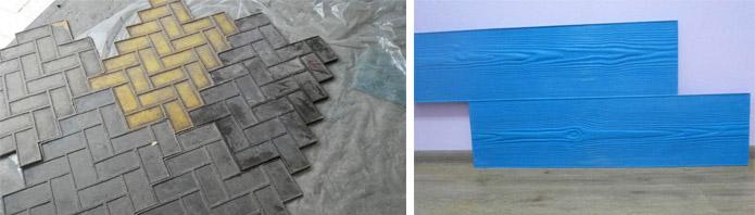 Штампование поверхностей из бетона