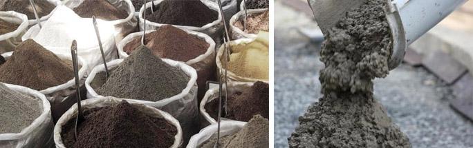 Бетонная смесь на основе глинозема
