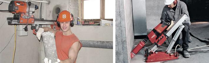 Как сделать отверстия в бетоне