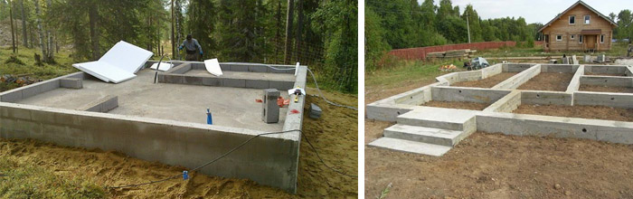 Столбчатый фундамент для бани 4х6