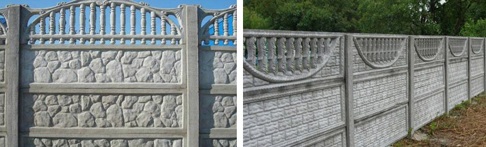 Ограды из бетона