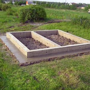 Основание для бани размером 4х6 м
