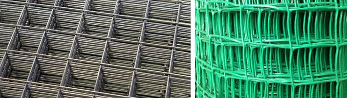 Полипропиленовая и металлическая сетки