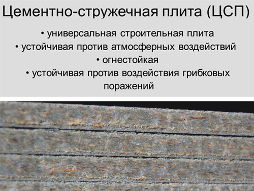 Преимущества цементно-стружечных листов