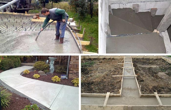 Применение бетонных растворов
