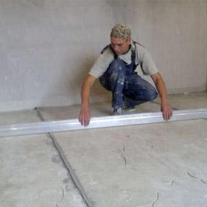 Самостоятельное выравнивание пола из бетона