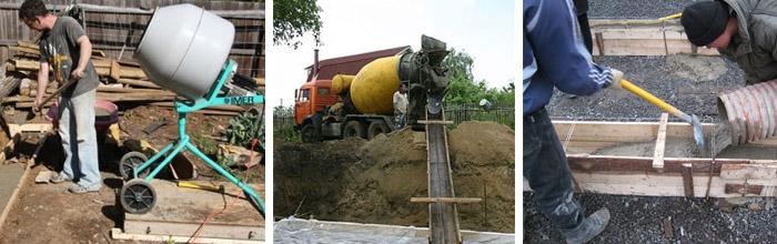 Как замесить большое количество бетона своими руками 32