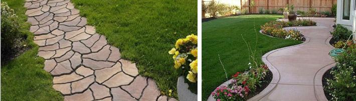 Садовые дорожки своими руками: простые и экономные способы