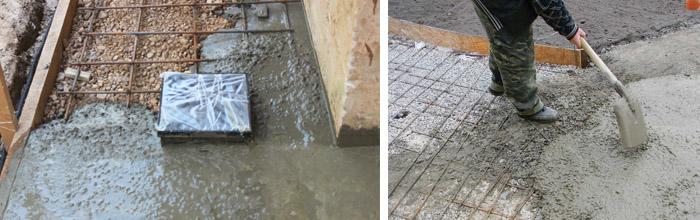 Усиление бетонных дорожек