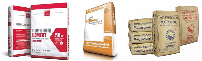 Цементные составы разных производителей