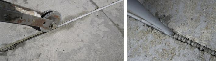 Швы в основании из бетона