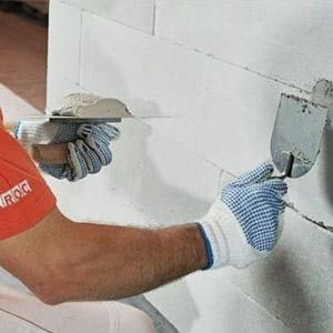 Внутренняя отделка газобетонных стен дома