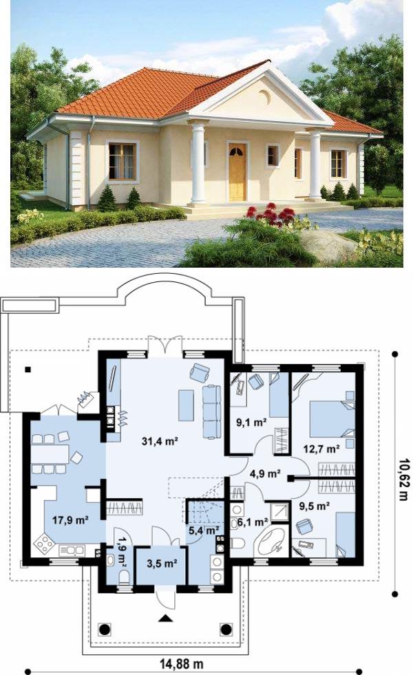 Дом 10х15 без мансарды и гаража