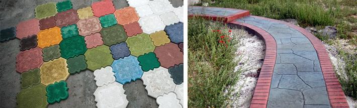 Изготовление цветного бетона