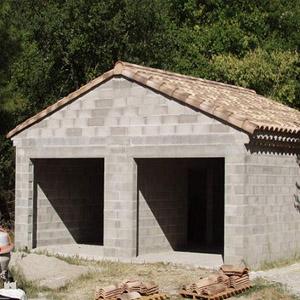 Как построить гараж из шлакобетонных блоков