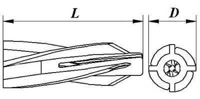 Нейлоновое крепление для газобетона