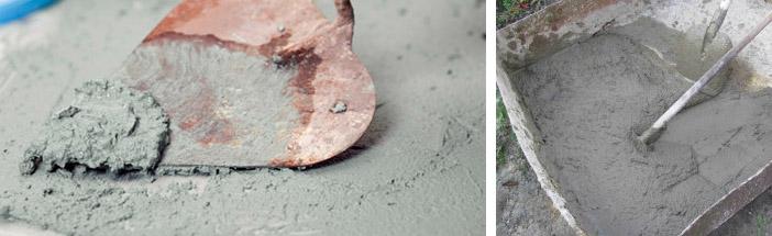 Особенности цементных штукатурок