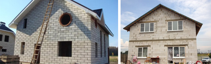 Расценки на строительство дома из пеноблоков