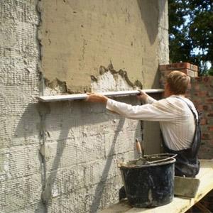 Применение штукатурки на основе песка и цемента