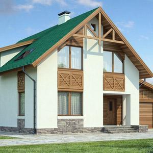 Проекты двухэтажных домов и коттеджей из пеноблоков