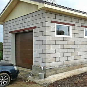 Расценки на постройку гаража из пенобетона под ключ