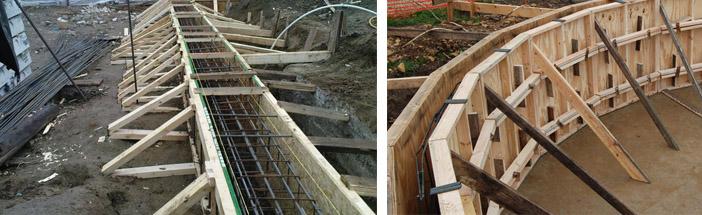 Съемная деревянная конструкция