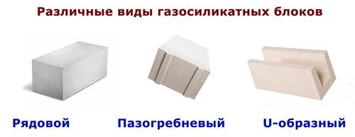 Блоки разных форм