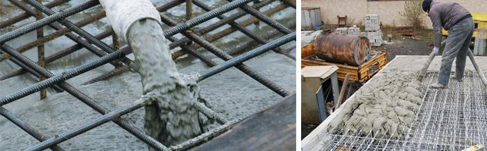 Заливка бетоном разных конструкций