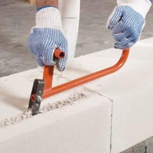Инструмент для работы с газобетонными блоками