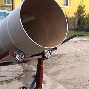 Использование бетоносмесителя ручного типа