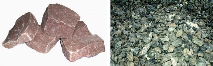 Кварцитовый и серпентинитовый камень