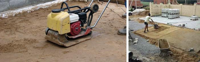Методы трамбования песка