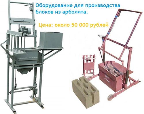 Оборудование для самостоятельного изготовления блоков
