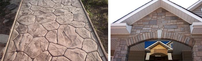 Оформление бетонных плоскостей