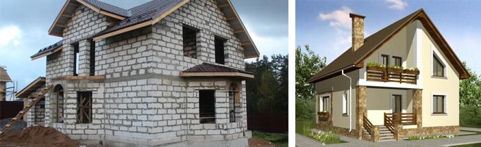 Пенобетонные загородные дома